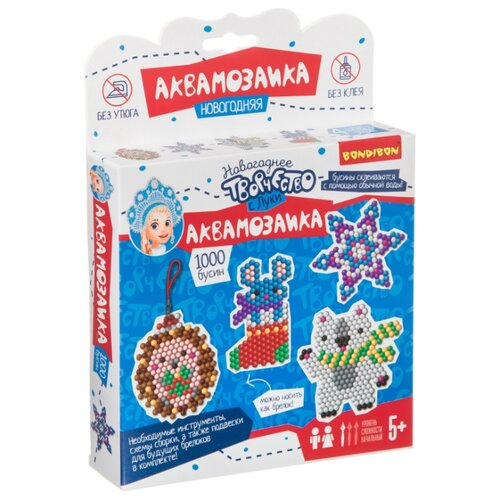 Купить BONDIBON Аквамозаика Новогоднее творчество с Луки (ВВ4520), Поделки и аппликации