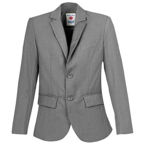 Купить Пиджак Button Blue размер 152, серый, Пиджаки