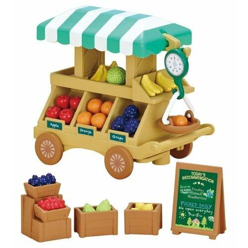 Купить Игровой набор Sylvanian Families Тележка с фруктами 5265, Игровые наборы и фигурки