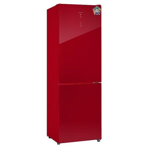 Холодильник HIBERG RFC-311DX NFGR холодильник hiberg rfc 311dx nfgr двухкамерный красное стекло