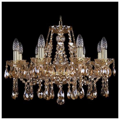 Люстра Bohemia Ivele Crystal 1413/8/200/G/M721, E14, 320 Вт