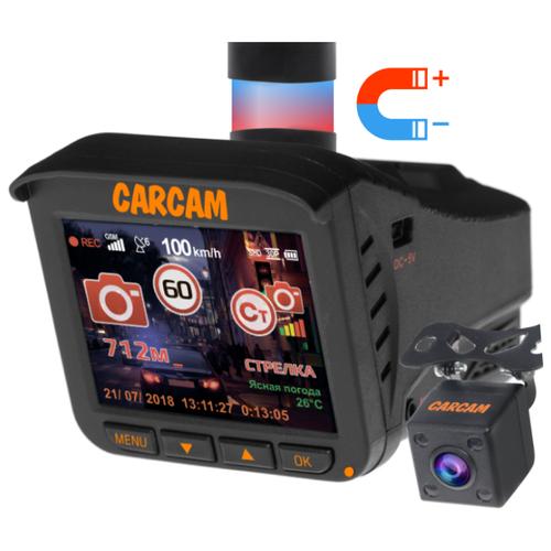 Видеорегистратор с радар-детектором CARCAM COMBO 5S, 2 камеры, GPS, ГЛОНАСС черный