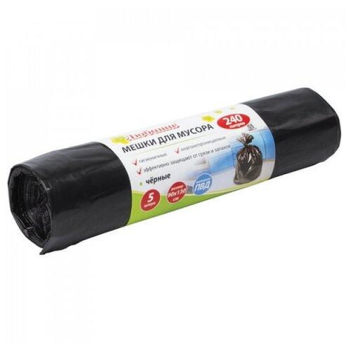 Мешки для мусора Любаша 605338 240 л (5 шт.) черный