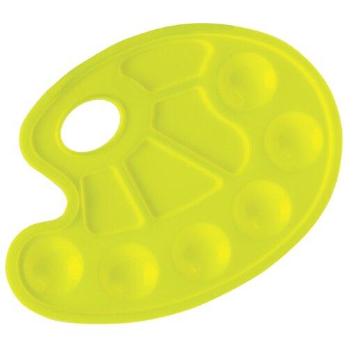 Палитра Юнландия пластиковая, 10 ячеек 23х17 (227807) желтый