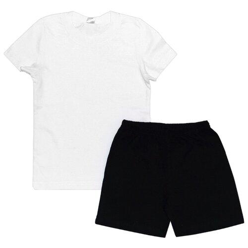 Купить Спортивный костюм Optop размер 140, черный/белый, Спортивные костюмы