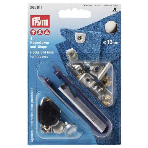 Купить Prym 265811 Непришивные крючки, серебристый/черный (4 шт.), Фурнитура