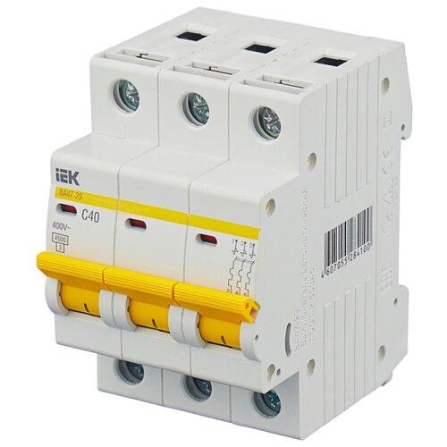 Автоматический выключатель IEK ВА 47-29 3P (C) 4,5kA 63 А выключатель автоматический однополюсный 6а c 4 5ka ва 47 63 ekf proxima