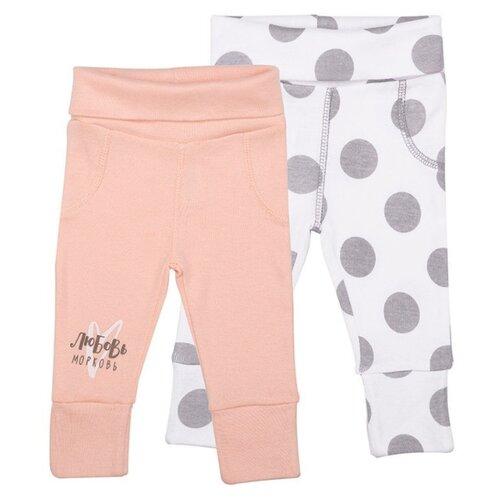 Брюки Happy Baby 90033 размер 56, розовый/белый брюки happy baby baby crawlers set 90034 размер 56 зеленый белый