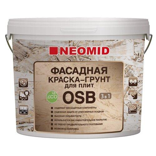 Краска акриловая NEOMID Фасадная краска-грунт для плит OSB 3 в 1 влагостойкая полуматовая белый 1 кг недорого