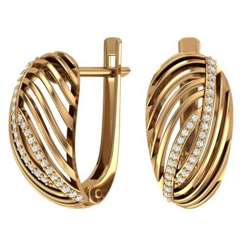 Фото - POKROVSKY Золотые серьги с бесцветными фианитами 2100854-00770 pokrovsky золотые серьги с бесцветными фианитами 2100841 00770