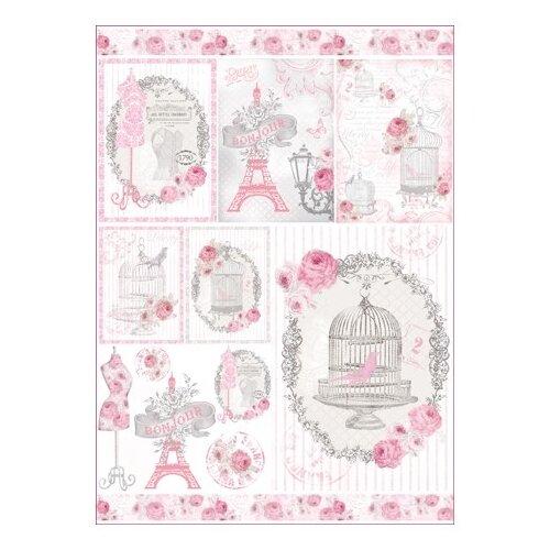 Купить Карта для декупажа La Vie en Rose 50 х 70 см 1 лист, Stamperia, Карты, салфетки, бумага