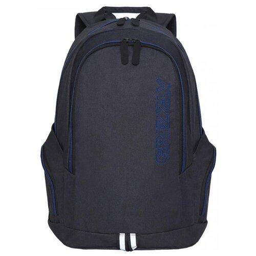 Фото - Рюкзак Grizzly RQ-004-1/2 16 (черный/синий) рюкзак grizzly rq 008 2 3 16 хаки