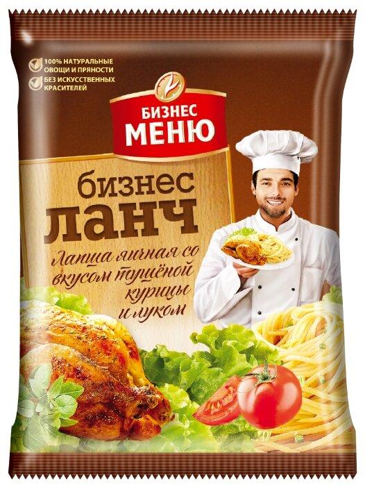 Бизнес Меню Лапша быстрого приготовления с тушеной курицей и луком 90 г