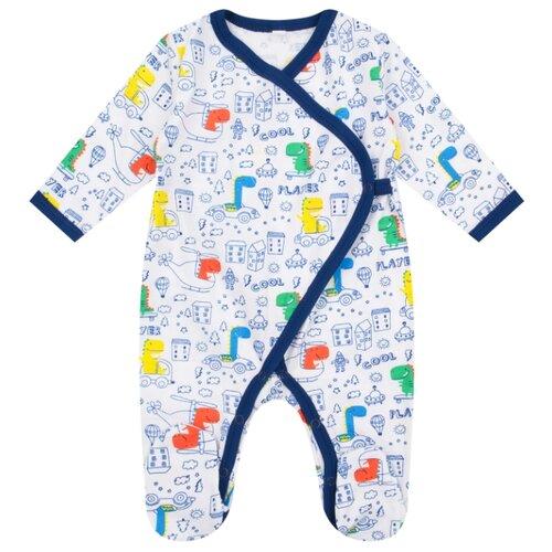 Купить Комбинезон Leader Kids размер 56, белый/синий, Комбинезоны