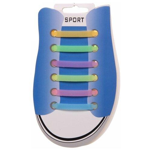Шнурки для обуви Florento матовые 952-039, 12 шт микс