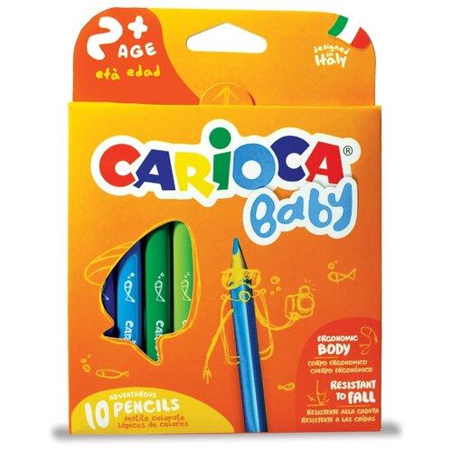 Купить Carioca набор цветных карандашей Baby 10 цветов (42819), Цветные карандаши