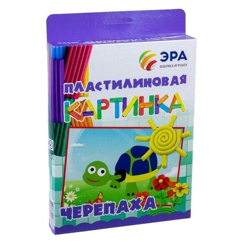 Купить Пластилин Эра Пластилиновая картинка Черепаха (С-387), Пластилин и масса для лепки
