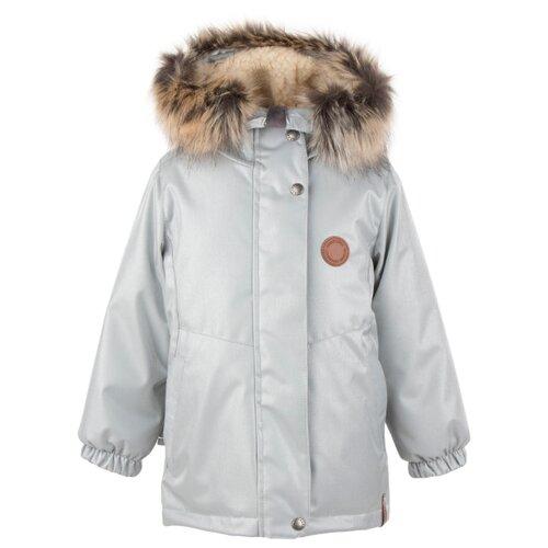 Купить Парка KERRY Marta K20435 размер 110, 2555 серебристый, Куртки и пуховики