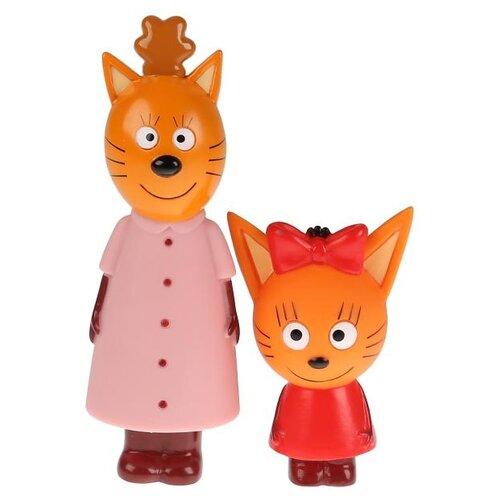 Купить Набор для ванной Играем вместе Три кота Мама и Карамелька (LX18004) оранжевый/красный/розовый, Игрушки для ванной