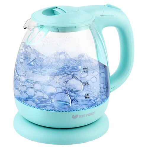 Чайник Kitfort КТ-653-1, голубой недорого