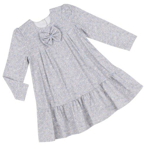 Платье ALENA размер 122-128, серый/голубой