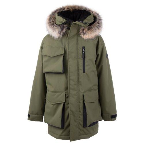 Купить Куртка KERRY Warm K20673 размер 134, 334 зеленый, Куртки и пуховики