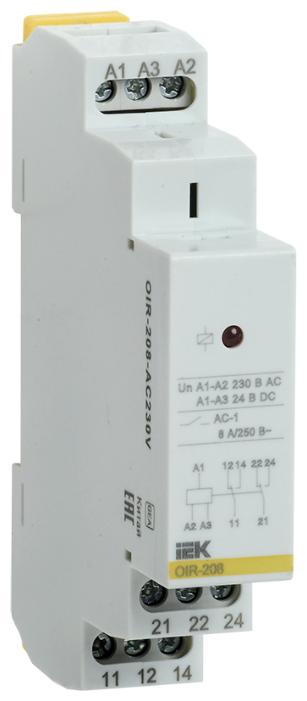 Промежуточное реле IEK OIR-208-AC230V — купить по выгодной цене на Яндекс.Маркете