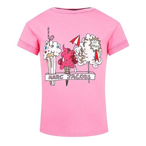 Футболка MARC JACOBS размер 92, розовый рубашка marc jacobs размер 92 красный