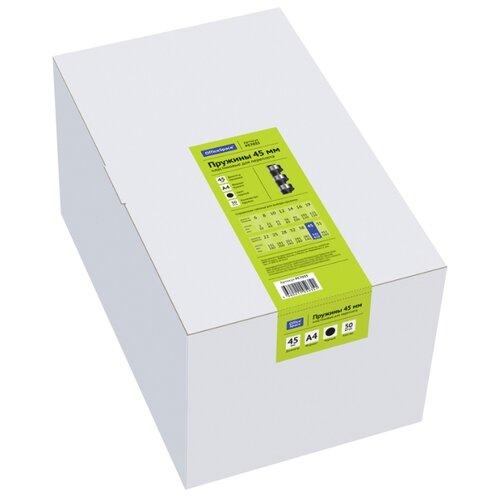 Фото - Пружина OfficeSpace пластиковые 45 мм черный 50 шт. пружина officespace пластиковые 6 мм черный 100 шт