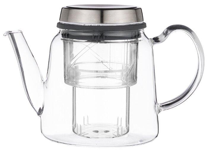 Заварочный чайник Agness 884-045 0,8л, с регулируемым стекл. фильтром