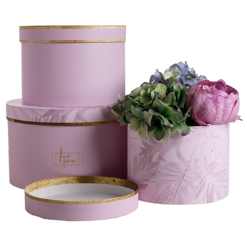 Фото - Набор подарочных коробок Дарите счастье For you, 3 шт. розовый набор подарочных коробок дарите счастье нежность 3 шт розовый