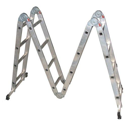 Лестница трансформер 4-секционная Biber 98302 лестница телескопическая biber 98208