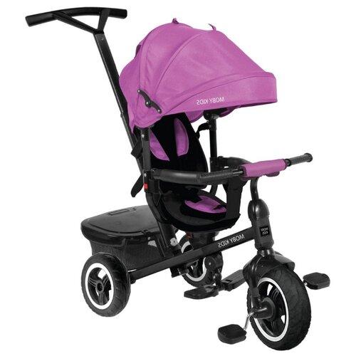 Купить Трехколесный велосипед Moby Kids Rider 360° 10x8 AIR фиолетовый, Трехколесные велосипеды