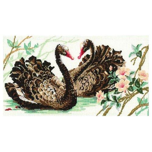 Купить Риолис Набор для вышивания Черные лебеди 40 х 24 см (806), Наборы для вышивания