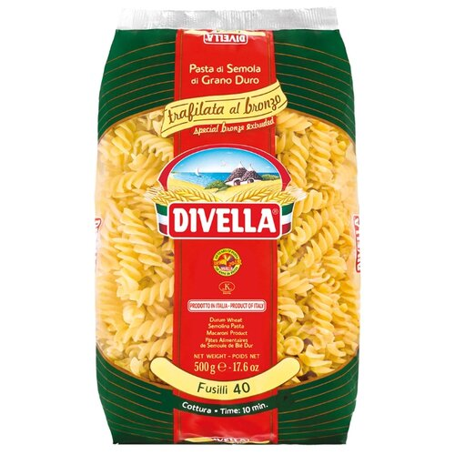Divella Макароны Bronze Extruded Fusilli 40, 500 г