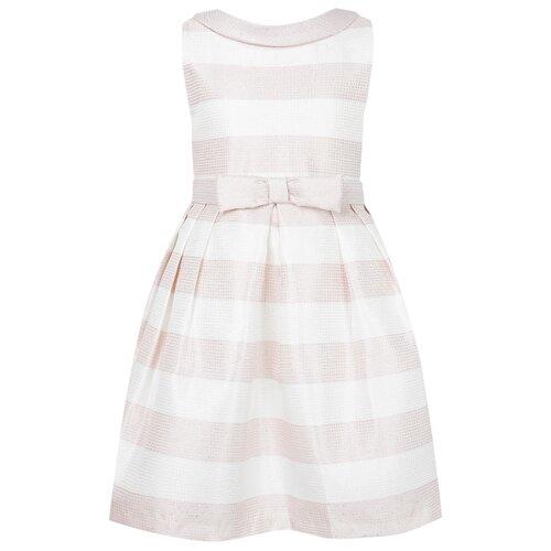 Купить Платье Abel & Lula размер 140, белый/розовый/полоска, Платья и сарафаны