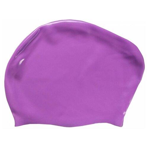 Шапочка для плавания Dobest KW для длинных волос фиолетовый one size шапочка для плавания indigo объемный рисунок розы цвет фиолетовый