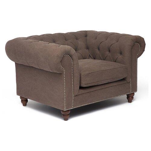 Классическое кресло TetChair Secret De Maison Chesterfield (mod. 5137-20) размер: 130х97 см, обивка: ткань, цвет: серый