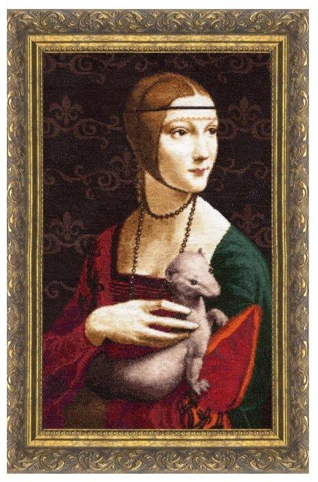 Золотое Руно Набор для вышивания Дама с горностаем 44 х 27 см (МК-016)