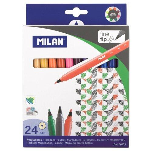 Купить MILAN Набор маркеров 610 (80159), 24 шт., Фломастеры и маркеры