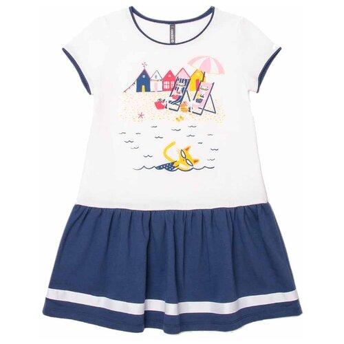 Купить Платье crockid Ультрамарин размер 92, сахар, Платья и юбки