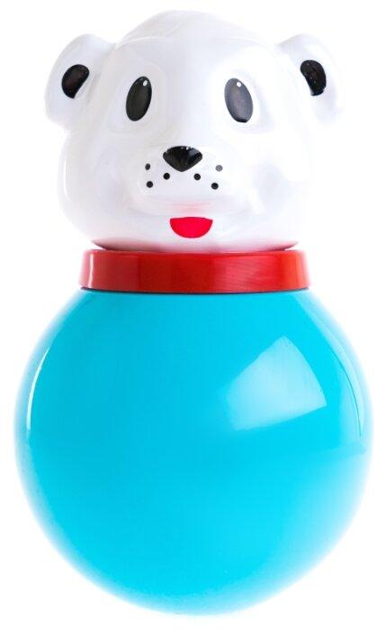 Неваляшка Пластмастер Медведь Толик (11310) 21 см голубой/белый