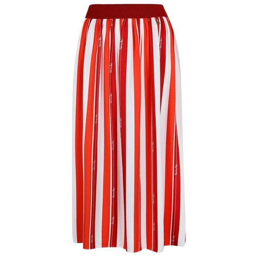 цена на Юбка PATRIZIA PEPE размер 140, белый/красный/полоска