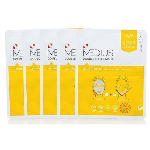 MEDIUS Двойная маска Double Effect Mask Lifting Focus 56 г 5 шт..