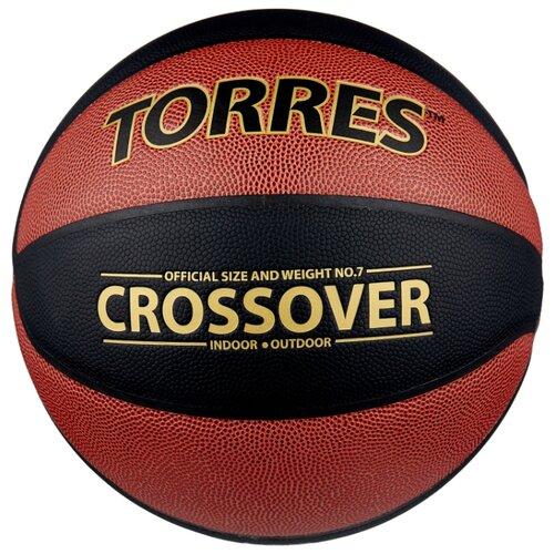 Баскетбольный мяч TORRES B30097, р. 7 темно-оранжевый/черный/золотой torres jam р 7
