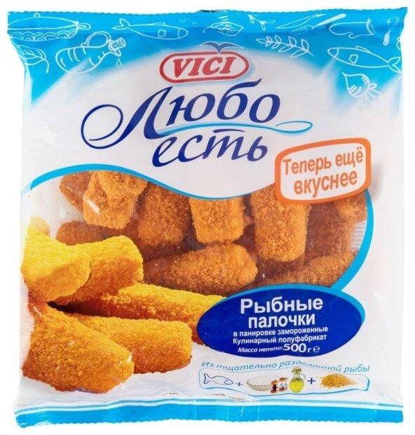 Vici Рыбные палочки в панировке Любо есть замороженные пакет 500 г