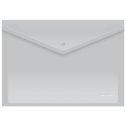 Berlingo Папка-конверт на кнопке A4, пластик 180 мкм, 10 штук бесцветный, Файлы и папки  - купить со скидкой