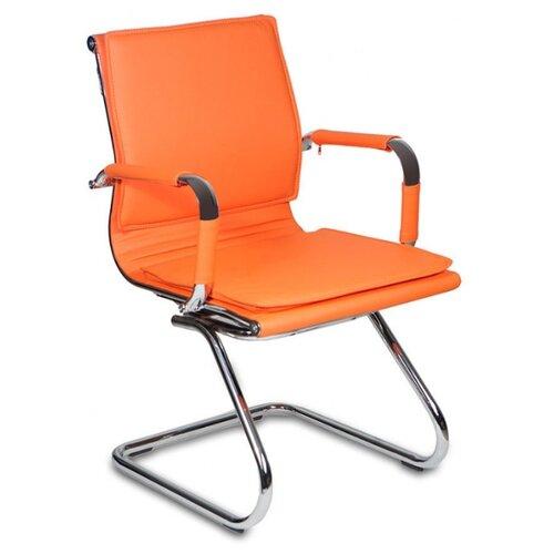 Стул Бюрократ CH-993-LOW-V, металл/искусственная кожа, цвет: оранжевый