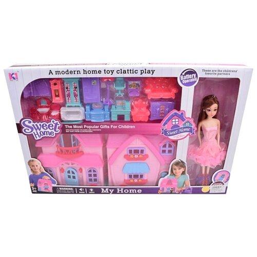 Купить Наша игрушка Кукольный домик 88018B, розовый, Кукольные домики