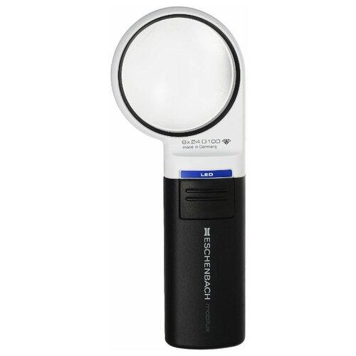 Фото - Лупа асферическая ручная с подсветкой Eschenbach mobilux LED, диаметр 58 мм, 6.0х, 24.0 дптр лупа асферическая для рукоделия eschenbach maxiplus 100х140 мм 2 0х 2 6 дптр и дополнительной лин